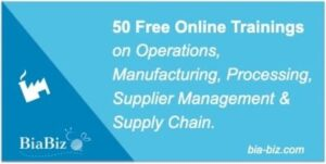 Manufacturing & Supply Chain Free Online Training