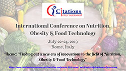 Nutrition, Obesity and Food Technology 2019
