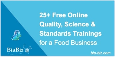 free quality, science & standards training
