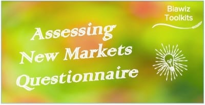 Assessing New Markets Questionnaire