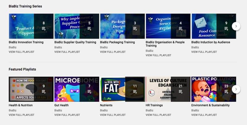 BiaBiz site upgrade YouTube