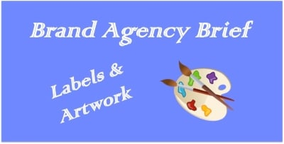 brand agency labels and artwork