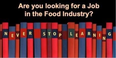 food industry job seekers guide
