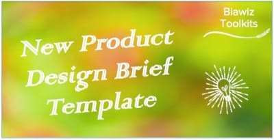 New Product Design Brief Template