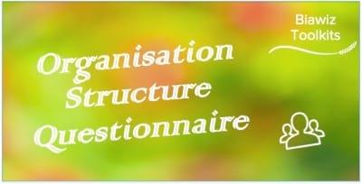 Organisation Structure Questionnaire