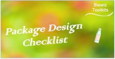 Package Design Checklist
