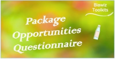 Package Opportunities Questionnaire