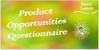 Product Opportunities Questionnaire