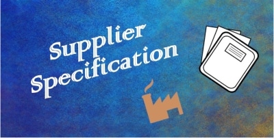 supplier specification