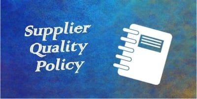 supplier quality policy