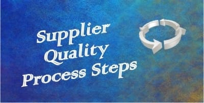 supplier quality process